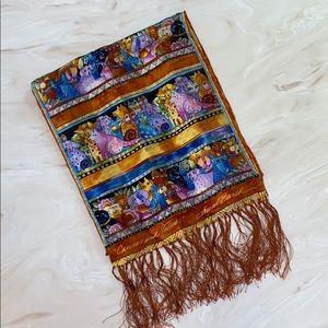 Laurel Burch Canines and Felines silk scarf